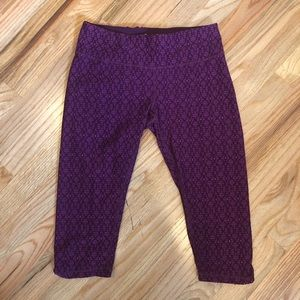 Prana Purple Yoga/Workout Capri - Size S